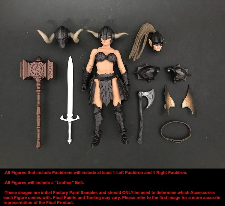 Barbarian Warrior Builder INSERT PACKAGE ONLY  Mythic Legions Advent of Decay